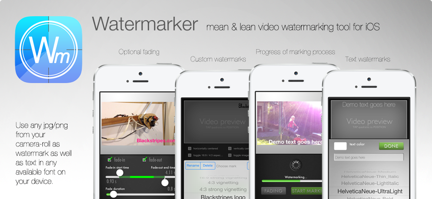 Video watermarking tool for iPhone and iPod 4th gen